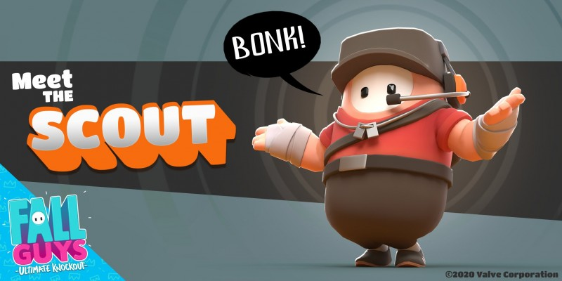 Team Fortress 2's Scout Arrives In Fall Guys Today