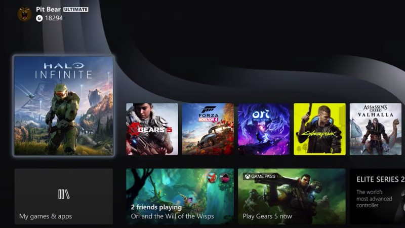The Xbox Series X Dashboard Looks A Lot Like The Old One